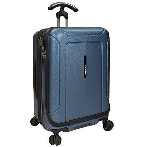 Traveler'S Choice Barcelona Polycarbonate Hardside Expandable Front Opening Spinner Luggage - Navy...