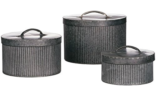 Set of 3 Sullivan's Metal Stacking Boxes with Lids
