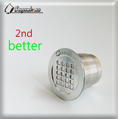 ShoppyStar - Cápsula de metal de acero inoxidable compatible con cafetera Nespresso recargable y reutilizable