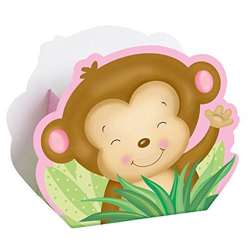Girl Monkey Shower Favor Boxes