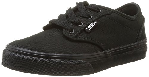 Vans Kids Atwood  Black/Black Skate Shoe 2 Kids US