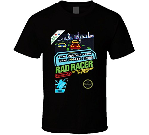 Rad Racer Nes Retro Video Game T Shirt M Black