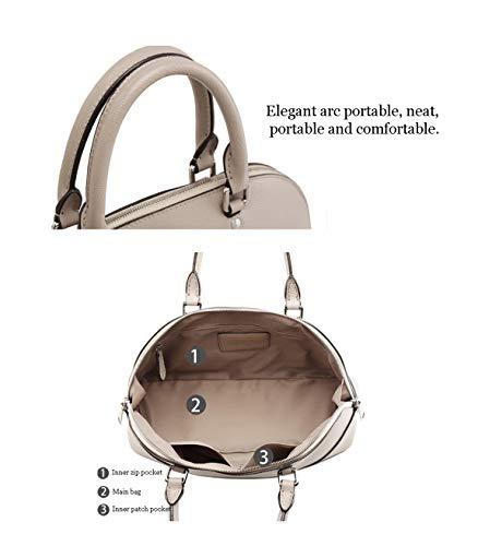 Tracolla Versione Coreana Hjly In 1 Borsa Kaki Pelle Della Leather Con A RFqxXwO1aF
