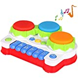 TINOTEEN Baby Musical Toys for Toddler, Piano and Drum Musical Instruments Toys