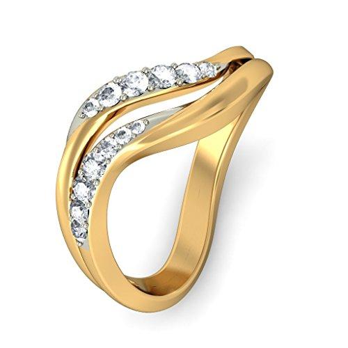 14K Or jaune, 0.23CT TW Diamant Blanc (IJ | SI) en diamant