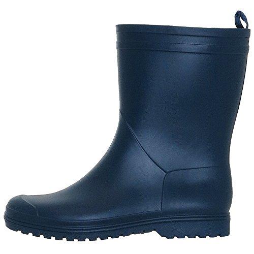 York Mid Matte Rain Solid Ladies Blue New Boots Capelli Calf 5FwIOWq