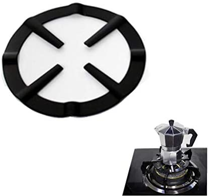 XIDAJIE 2 Pack Gas Stove Stands Round Gas Cooker Cast Iron Holder Adjustable Coffee Moka Pot Stand Reducer Holder Gas Stove Shelf Accessory Kitchen Supplies
