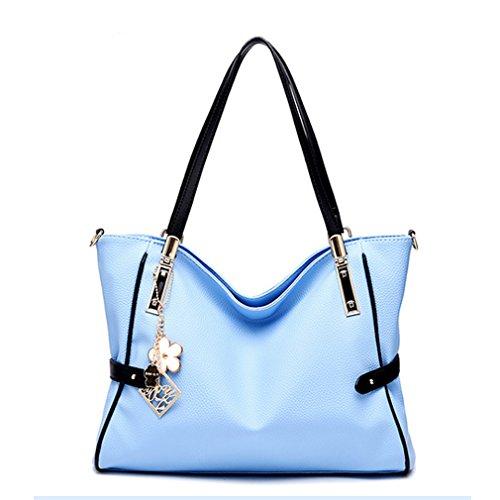 LOMOL Womens Europe and America Fashion Elegant Leather Tote Top-handle Handbag(C4)