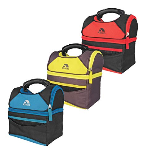 (Igloo 62841 Playmate Gripper Lunch Bag Cooler, Assorted Colors)