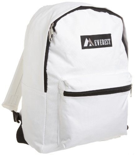 Everest Luggage Basic Backpack, White, Medium