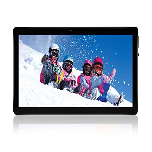 10.1 Inch Tablet, Dual Sim Card Slots for Phone Call, 3G/WiFi, Quad Core CPU, Bluetooth, GPS, 4GB RAM 64GB ROM, Android 7.0, 1280 * 800 IPS Screen, 2+5 MP Camera Computer PC -(Black)
