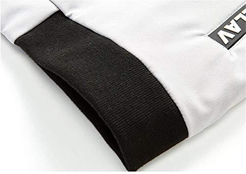 Manica Varsity Top Da Giacche White Uomo Cappotto Fit Con Sport Cerniera Moda Cappuccio Lunga Slim Outdoor vTqawz