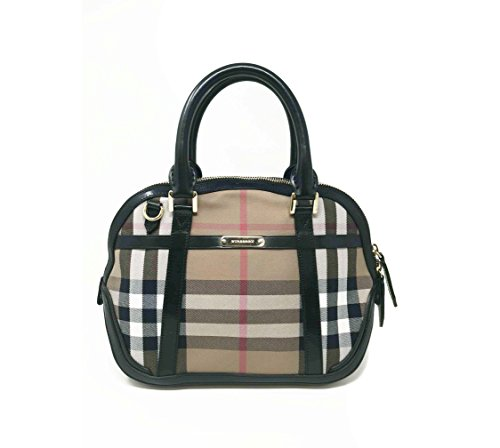 Burberry Sartorial House Check Bowling Bag - Black