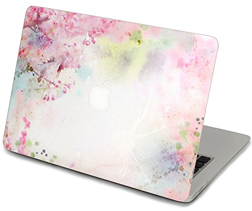 LoveDecalHome macbook pro 13 decal lovely sticker macbook pink floral top decal front sticker macbook cover skin