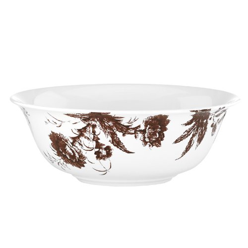 SCALAMANDRE BY LENOX TOILE TALE CHOCOLATE Serving bowl -