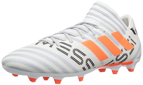 Image of the adidas Performance Men's Nemeziz Messi 17.3 FG Soccer-Shoes, White/Solar Orange/Clear Grey, 6.5 Medium US