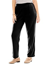 Women's Plus Size Straight Leg 7-Day Knit Pants