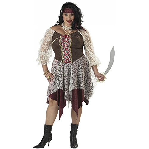 [California Costumes Women's South Seas Siren Costume, As shown, 2XL (18-20)] (Pirate Wench Adult Womens Plus Size Costumes)