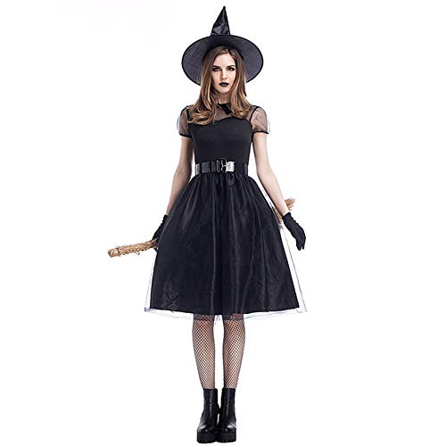 Dora Bridal Women's Halloween Costume Witch Role Cosplay Costume Dress with Hat and Gloves ()