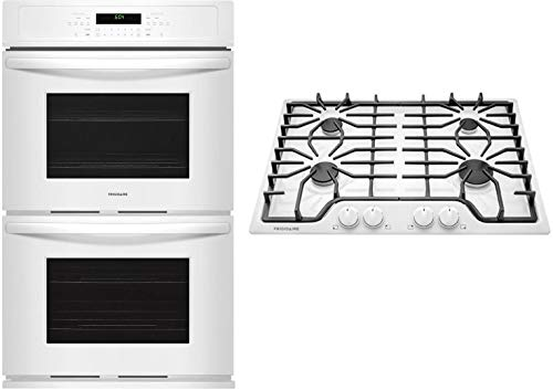 30' Double Oven Gas Range - 2 Piece Kitchen Appliance Package with FGGF3036TD 30 Gas Range and FGID2466QD 24 Built In Fully Integrated Dishwasher in Black Stainless Steel