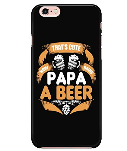 iPhone 7/7s/8 Case, I Love Beer Case for Apple iPhone 7/7s/8, Bring Papa A Beer iPhone Case (iPhone 7/7s/8 Case - Black) ()