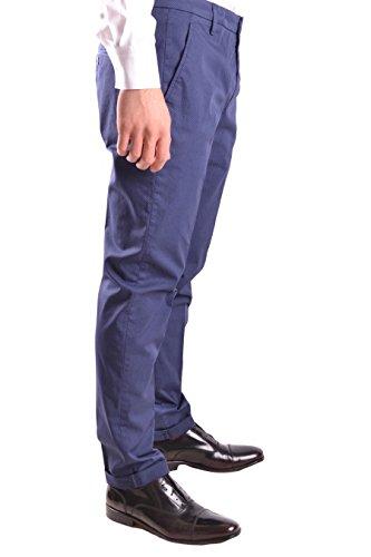 Dondup Homme UP235FS129UPTD853 Bleu Coton Pantalon