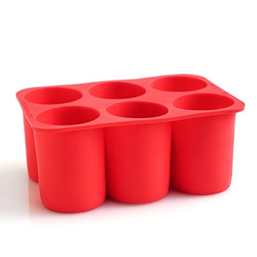 Cocktail Kingdom Cylindrical Ice Tray - Red