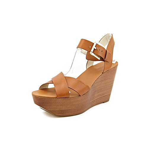 MICHAEL Michael Kors Peggy Wedge Platform Sandal (Luggage, 8)