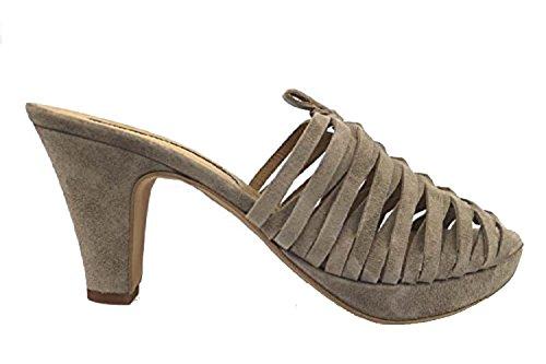Manufacture Sandalias Zapatos Eu Gamuza 40 Beige c D'essai Oscuro Ap267 Mujer qRw5fZwX