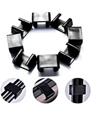 Outdoor Patio Wicker Furniture Clips Sectional Sofa Rattan Furniture Clamps Chair Fasteners Wicker Chair Garden Furniture Clips (Medium 8pcs)
