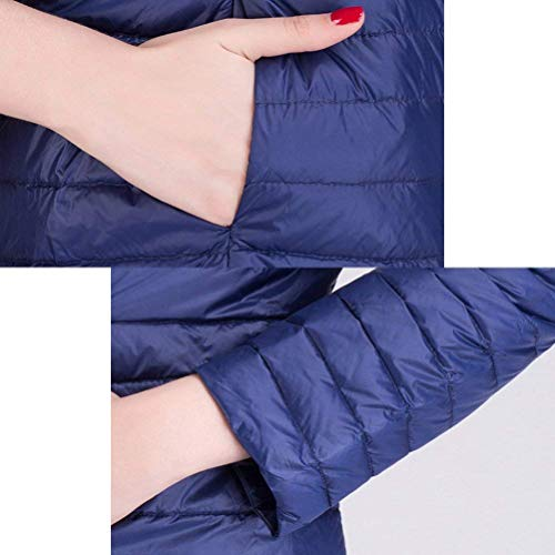 Quilted Padded Outerwear Pockets Down Long Winter Jacket Solid Jacket Ladies Zipper with Sleeve Jackets Lightweight Color Autumn Khaki Mode Casual Adelina Quilted 5xH0Tq8