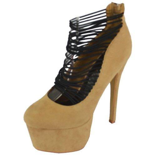 Heels Platform Women's Sand Pazzle Misty wxPq06txY