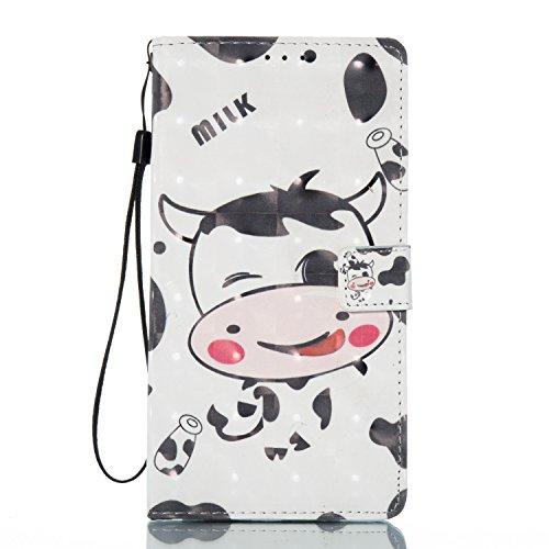 Para ZTE Zmax Pro Z981 funda, (Parejas Campanula (rosa)) pintura 3D caja del teléfono de la PU patrón en relieve ,Función de Soporte Billetera con Tapa para Tarjetas correa de mano soporte para teléfo vaca lechera