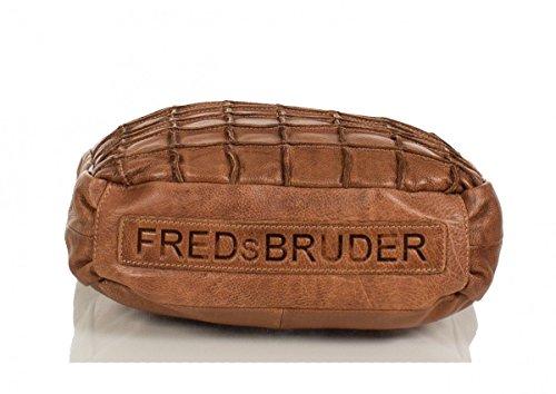 FREDsBRUDER Waffeltüte Bolso bandolera piel 32 cm Cognac (Braun)