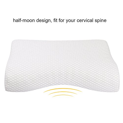 NURSAL Contour Memory Foam Pillow, Hypoallergenic Neck Optimum Support for Pain Relief, Orthopedic Pillow with Washable Zippered Soft Cover
