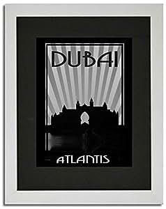 Atlantis - Black And White F02-m (a4) - Framed