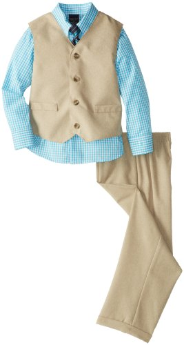 Nautica Boys 2-7 Solid Ticking Vest Set