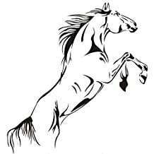 Sonline Horses Swagger glass living room interior trend for home decoration PVC wall stickers