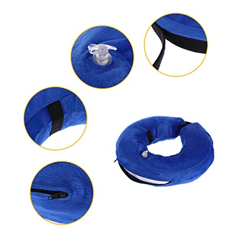 UEETEK Protective Inflatable Collar Pet Cone E-Collar Soft Pet Recovery Collar well-wreapped