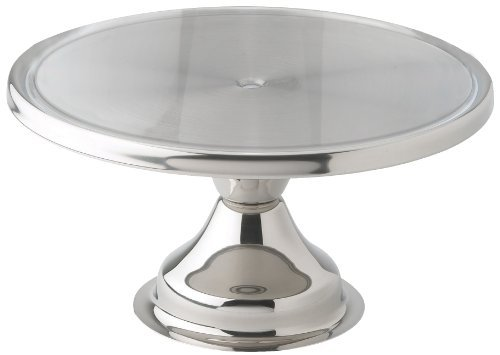 Winco CKS-13 Stainless Steel Round Cake Stand, 13-Inch,Set of 12 by Winco