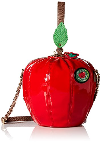 Betsey Johnson Hard Core Crossbody, Red