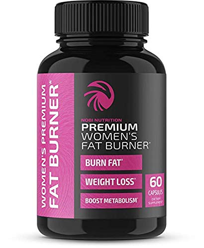 Nobi Nutrition Premium Vegan Fat Burner for Women - Weight Loss Supplement, Appetite Suppressant and Metabolism Booster - Thermogenic Diet Pills for Women - 60 Capsules (Foods That Make Your Stomach Flat Fast)