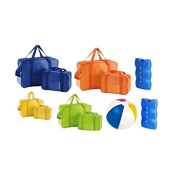 kit spiaggia ombrellone ponza + picchetto + set 2 borse termiche giostyle Fiesta 6/25 4 spesavip