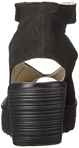 London black Black Sandal Wedge Fly Perforated Women's Yala 8HxnaqqwUg