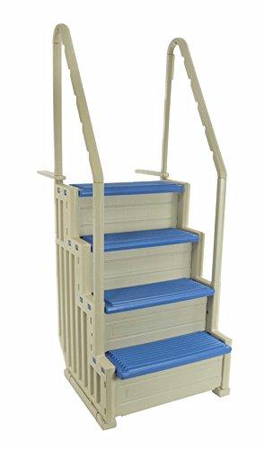 Confer Plastics Access Pool Step 1 (Warm Grey with Blue Steps)