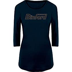 BSW Women's BinFord Tools Home Improvement 3/4 Sleeve MED Navy