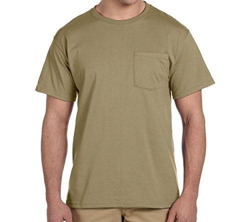 Falcon Bay/P & J Big and Tall Big and Tall Pocket T Shirts That Fits Color Khaki, up To Size 8X (7X/8XB Big, Khaki) - Falcon Bay Big And Tall T-shirt