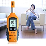 Sun Vale Professional Digital LCD Screen Display Indoor Outdoor Thermometer Hygrometer Temperature Humidity Meter White & Gray
