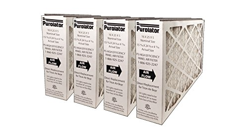 Sterling Seal P5MV11-16X25X5XCS P5-MV11 16x25x5 Purolator High End Filter, Replacement for Trion Air Bear (Pack of 4) by Sterling Seal & Supply