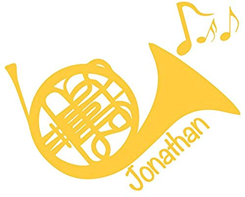 Wall Horn French - Personalized French Horn Graphic Baby Room Nursery Decor - Wall Decals Mural Decor Vinyl Z5323